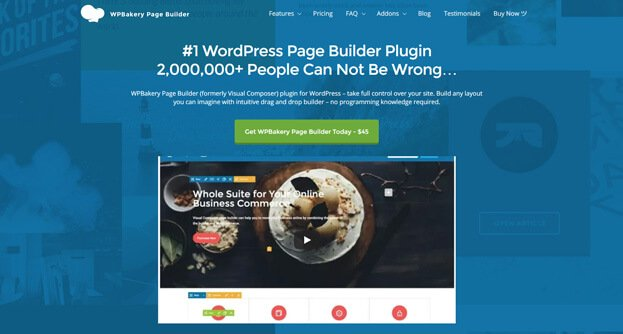 WPBakery Page Builder is one of the most popular plugins on CodeCanyon.