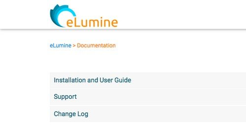 eLumine E-Learning Website - Documentation and Support