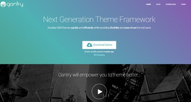 Gantry is a free open-source framework that is featured in the WordPress Codex.