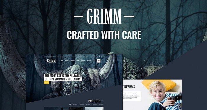 Grimm Game Development Studio WordPress Theme