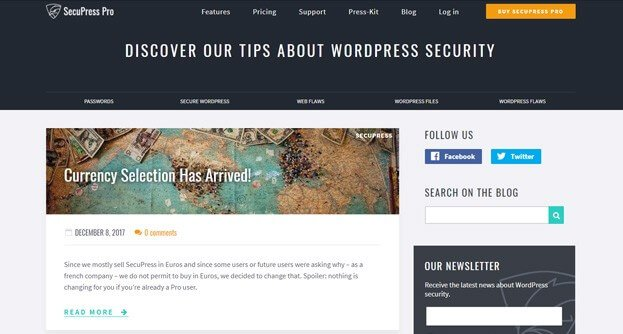 Learn WordPress Security - Their posts are short and captivating.