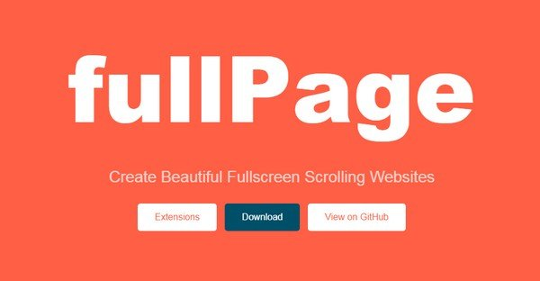 FullPage.js allows developers to make full-screen scrolling pages.