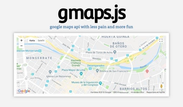 jQuery Plugins - Gmaps is another powerful plugin which allows you to incorporate Google Maps into your website