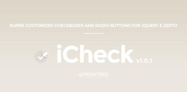 iCheck is a minimalistic form plugin.