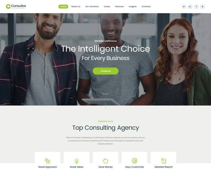 The perfect WordPress theme for your business site should match the style and identity of your own project.