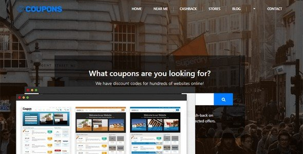 With this Coupon & Deals WordPress Theme from PremiumPress, you can create an affiliate and discount website.