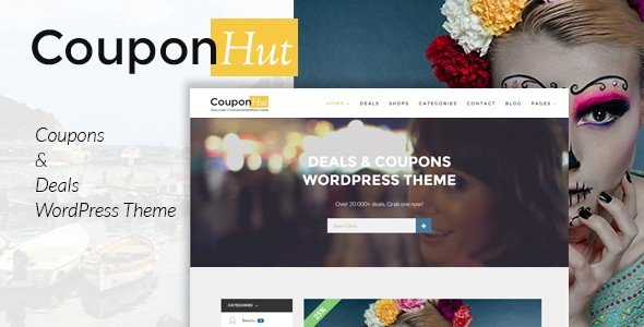 CouponHut is a WordPress theme specially created to display discounts and deals.