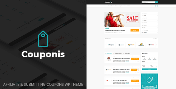 Couponis is the perfect affiliate WordPress theme for discounts, deals, and coupons.