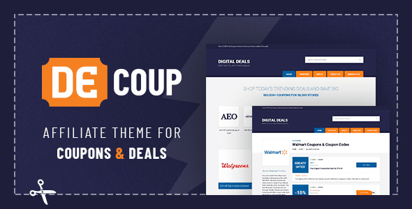 DeCoup is a WordPress theme designed for selling coupons and deals.