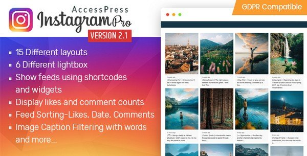 Instagram Feed Pro is a WordPress plugin created by AccessKeys.