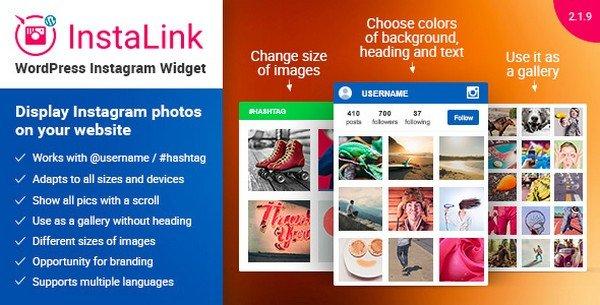InstaLink is a flexible Instagram WordPress widget plugin