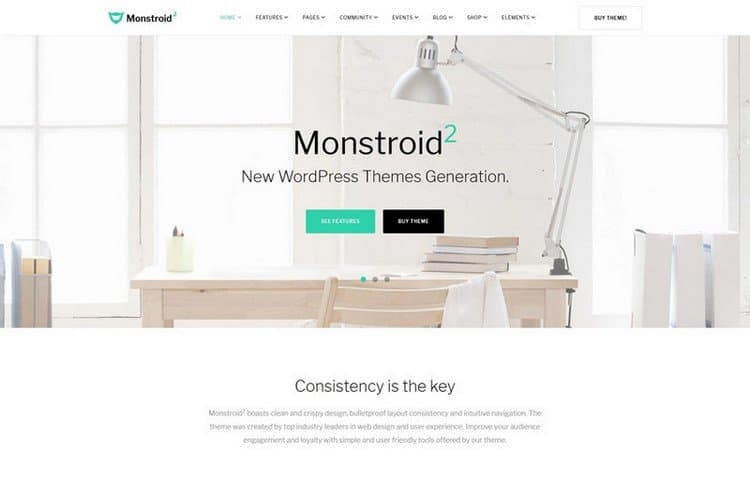 Monstroid2 is a functional WordPress template that's intended to be used for a range of business projects.
