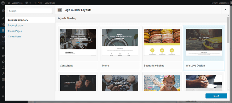 Page builder layouts that are pre-designed by VMagazine's developers.