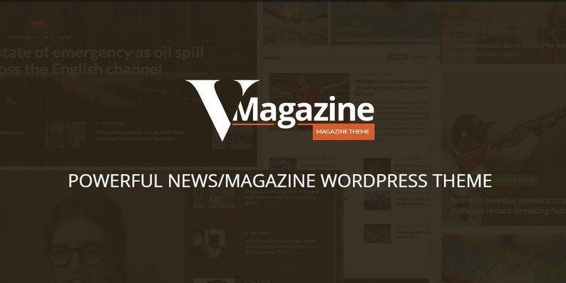 Vmagazine - Blog and Magazine WordPress Theme