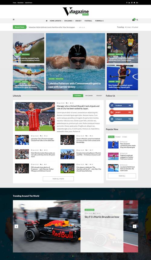 VMagazine – Premium Magazine WordPress Theme Demo Four