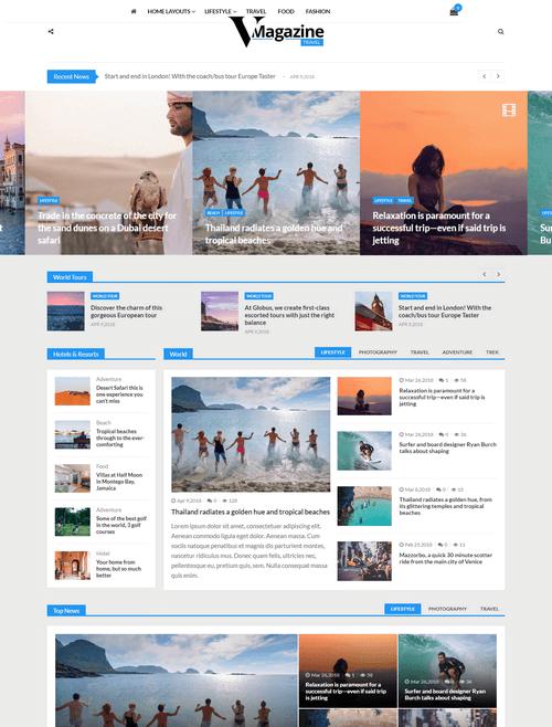 VMagazine – Premium Magazine WordPress Theme Demo Three.
