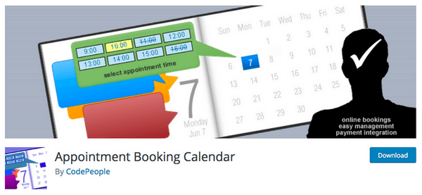Appointment Booking Calendar is a plugin that allows you to show your dates in a calendar.