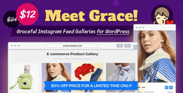 Grace is a creative and flexible Instagram feed WordPress plugin.