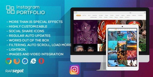 Instagram Portfolio is a flexible Instagram gallery WordPress plugin.