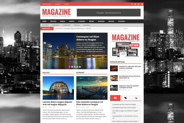 MH Magazine is a very flexible and well-organized WordPress theme.