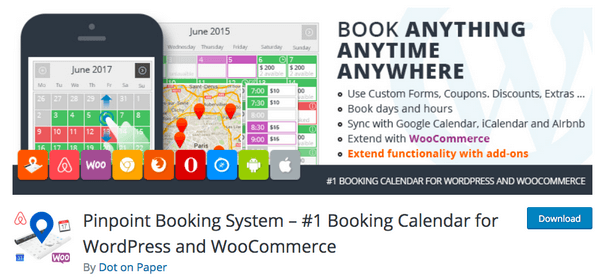 With Pinpoint, you can schedule and offer bookings for your services.
