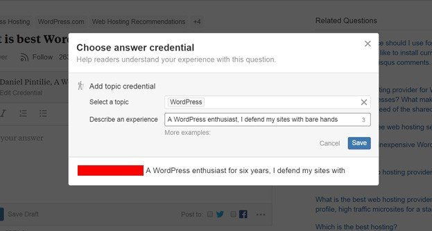 Get the Most from Quora as a WordPress Blogger - The sky is the limit with custom personal bios!