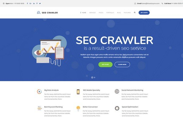 SEO Crawler is a SEO friendly theme for e-commerce websites.