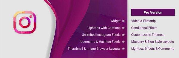WD Instagram Feed is a free Instagram WordPress plugin.