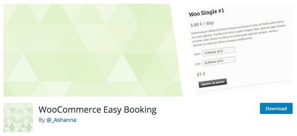WooCommerce Bookings plugins - With this plugin you can add an option to your WooCommerce products and set booking rules on it.
