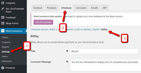 Learn how to Accept Bitcoin in Woocommerce With BitPay.