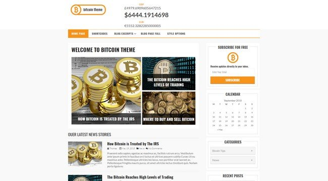 The Bitcoin Theme is a great looking WordPress theme designed by Flytonic.