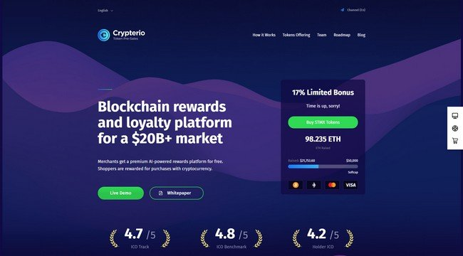 Crypterio is a best-selling Cryptocurrency WordPress theme on ThemeForest.