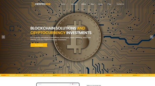CryptoHub Hub is a WordPress theme specially for the cryptocurrency market.