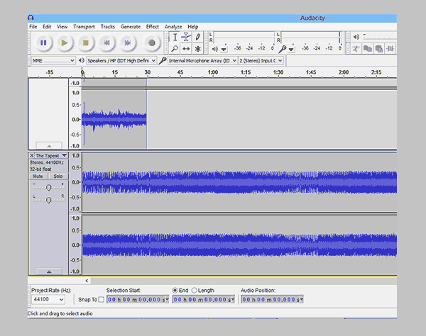 For recording your first Podcast you will need an audio recording software.