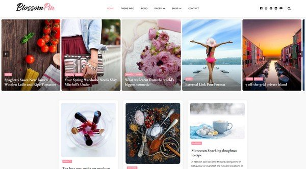 Blossom Pin is an attractive free WordPress theme from Blossom Themes.