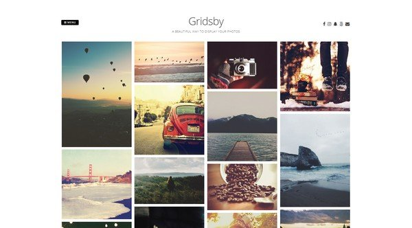 Gridsby is a free elegant gallery WordPress theme from Modern Themes.