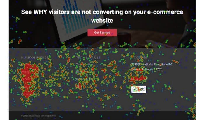 Move heatmap shows you how visitors on your website.