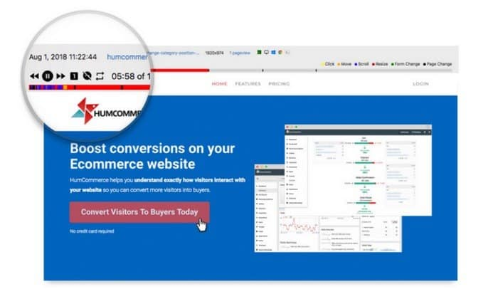 With HumCommerce you can record multiple sessions and can analyze them later.