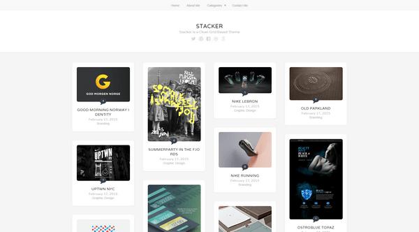 Stacker is a free Pinterest-based WordPress theme from ThemeFurnace.