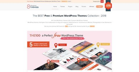 8Degree Themes WordPress Themes