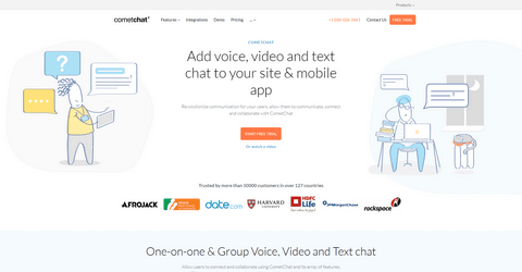 CometChat - Add voice, video and text chat to your site & mobile app.