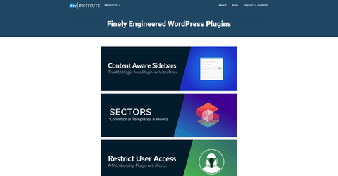 DEV Institute Content Aware Sidebars WordPress Pllugin.