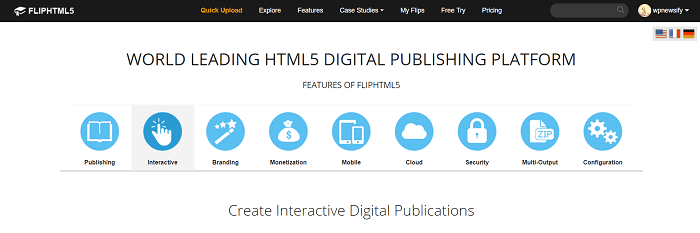 HTML5 FlipBook - FlipHTML5 includes a lot of great features.