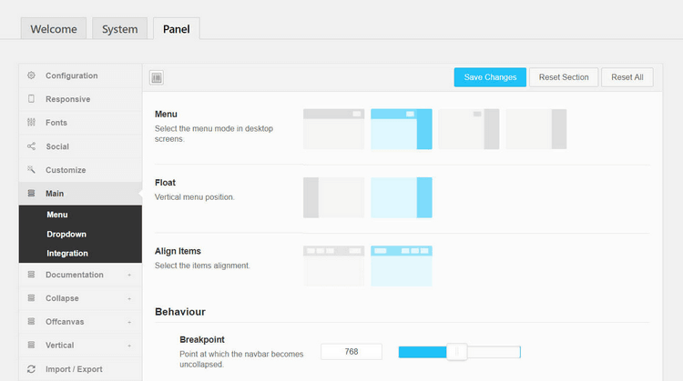 You can have a horizontal menu on large-screened devices and a vertical menu on mobile devices.