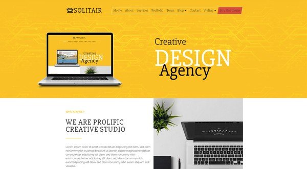Solitair WordPress Theme is perfect for all kinds of startup websites.