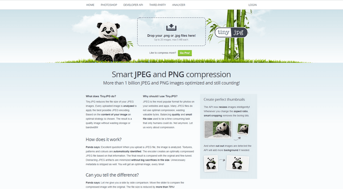 You can use TinyJPG to compress and optimize images.