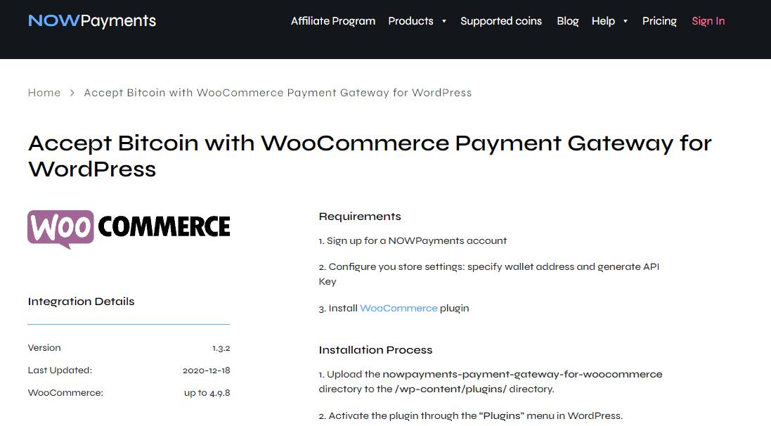 NOWPayments WooCommerce Plugin