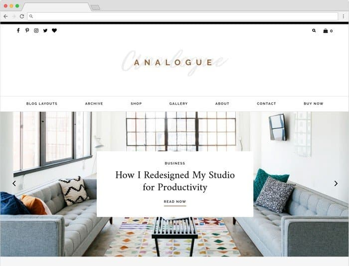 Analogue is a WordPress Theme designed for influencers and infopreneurs.