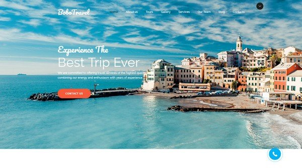 Bobo Travel Company Website Design for Travel Company