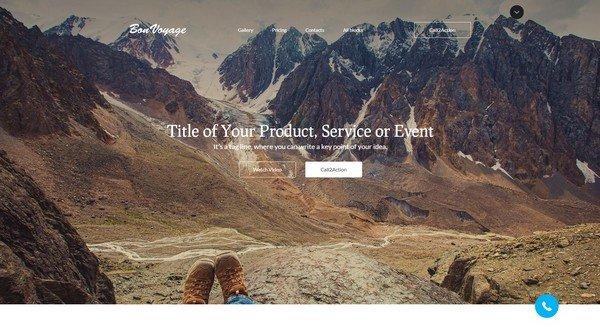 BonVoyage Travel Landing Page Template